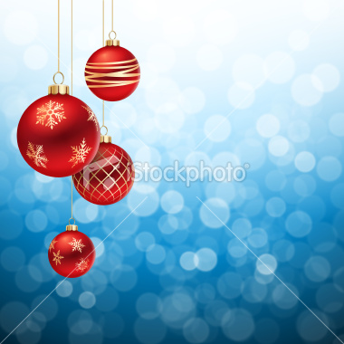 red-and-gold-christmas-balls-on-blue-flare-background