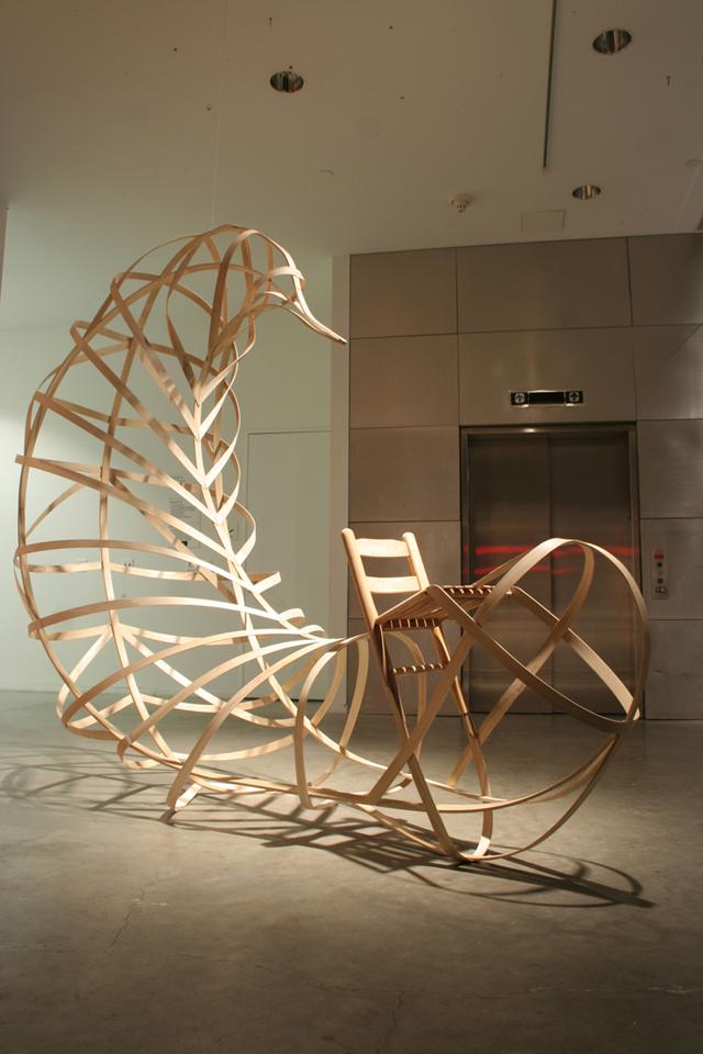 Chair Sculpture by Robby Cuthbert