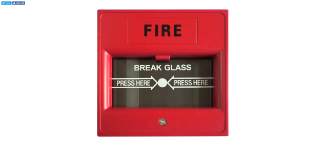 Break glass to sound alarm